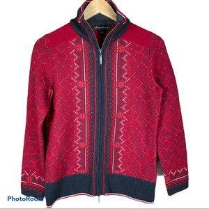 EDDIE BAUER merino wool zip up sweater cardigan
